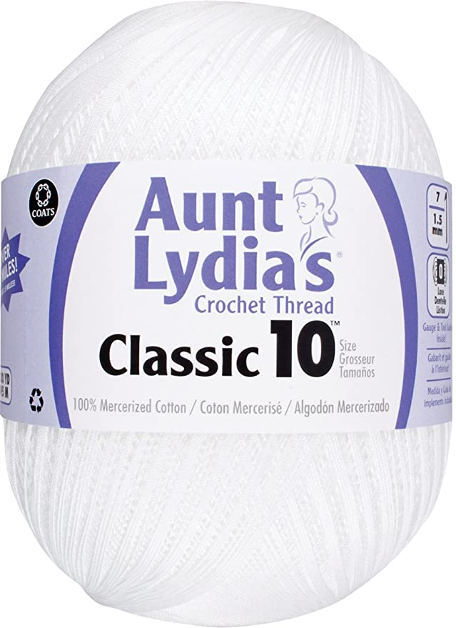 Amazon Aunt Lydia Jumbo Crochet Cotton White Arts Crafts