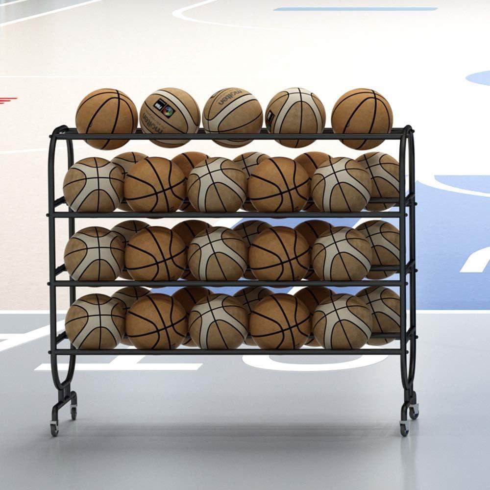 Étagère de rangement roulant Panier Football Volleyball Basketball Athletic Gym 16 boules