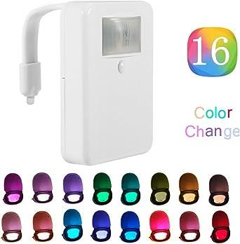 2/modes et 8/couleurs diff/érentes WC /à d/étecteur de mouvement avec abattant lumineux Compatible avec toutes les toilettes.