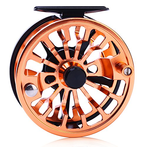 Sougayilang Fly Fishing Reel Large Arbor 2+1 BB with CNC-machined Aluminum Alloy Body and Spool in Fly Reel 5/6