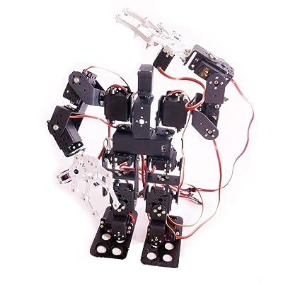 15 DOF Robot Bipedal Race Walking Robot Bipedal Robot DIY Kit Biped Humanoid Kit Robot Kit Kits de ciencia para niños Juguete humanoide: Bricolaje y herramientas