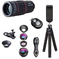 BINDEN Tripode con Zoom 18x, Kit de Lentes Basico, Obturador Bluetoth, Compatible con 98% de Smartphones, Ideal para Viajes y reuniones Familiares
