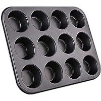 Forma para 12 Cupcakes Em Aço Carbono com antiaderente 35 x 26 x 3 Cm