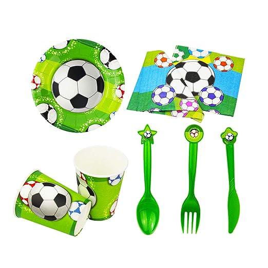 Toyvian Artículos de Fiesta temáticos Desechables de fútbol ...