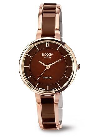 Amazon.com  3236-04 Ladies Boccia Titanium Brown Watch  Watches 69c0922a6c8