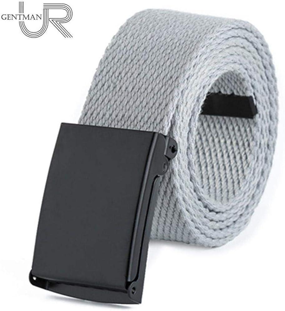 Unisex Waist Belt Men Women Solid Color Canvas Strap Twill Cotton Jeans Belts