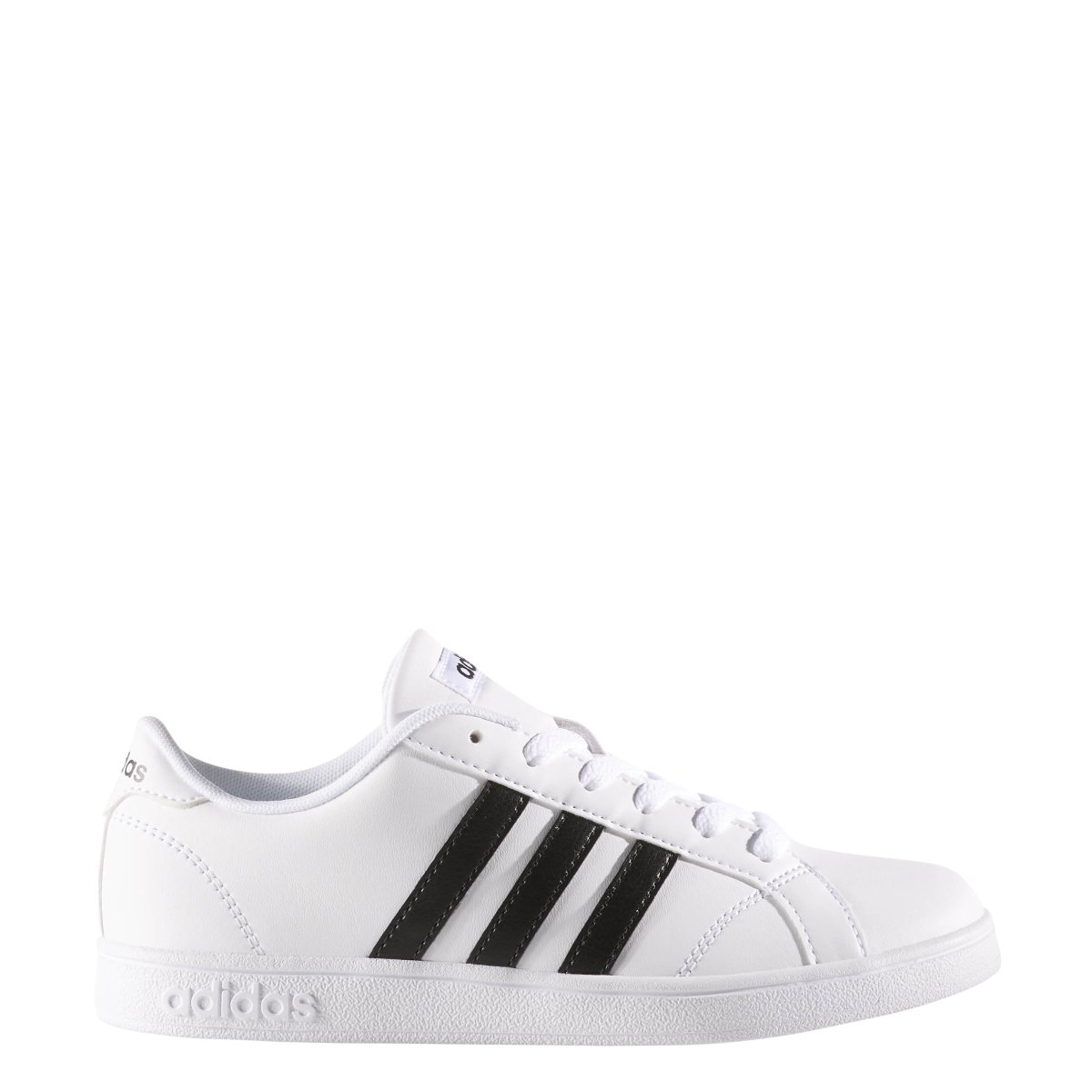 adidas Performance Unisex-Kids Baseline Sneaker, White/Black/White, 4.5 M US Big Kid