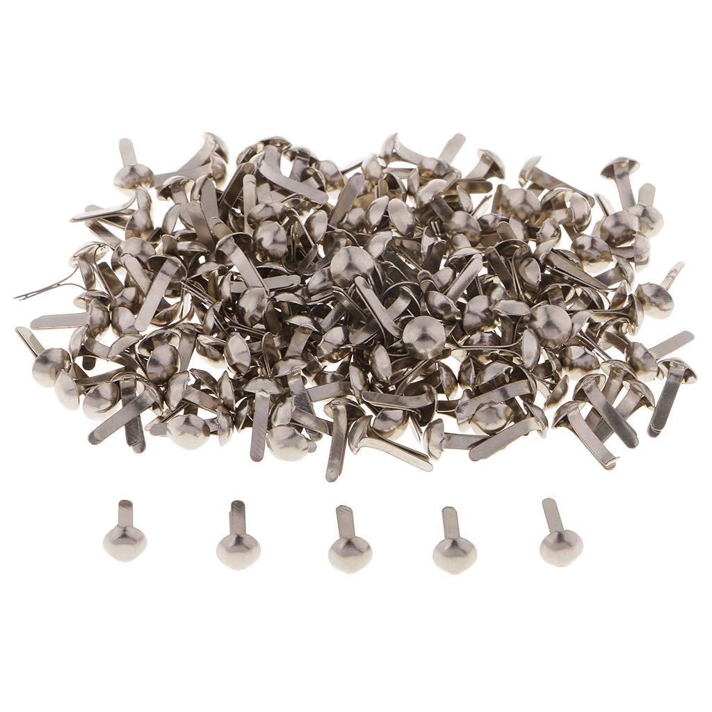 Baoblaze 800 Pezzi Fermagli a Graffetta Assortimento di Testa Rotonda in Metallo Brad per Lartigianato Fai-da-Te