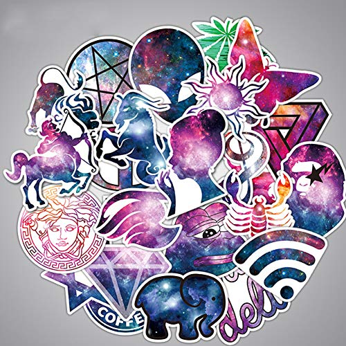 Cool Galaxy Animal Laptop Stickers Star Car Cartoon Water Bottle Vinyl Waterproof Cars Motorcycle Bicycle Skateboard Luggage Bumper Bomb Decal 36pcs Pack