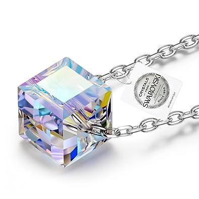 NINASUN Kaleidoscope 925 Sterling Silver [Aurore Boreale] Crystals from Swarovski, Women Fine Jewellery, Allergen-free