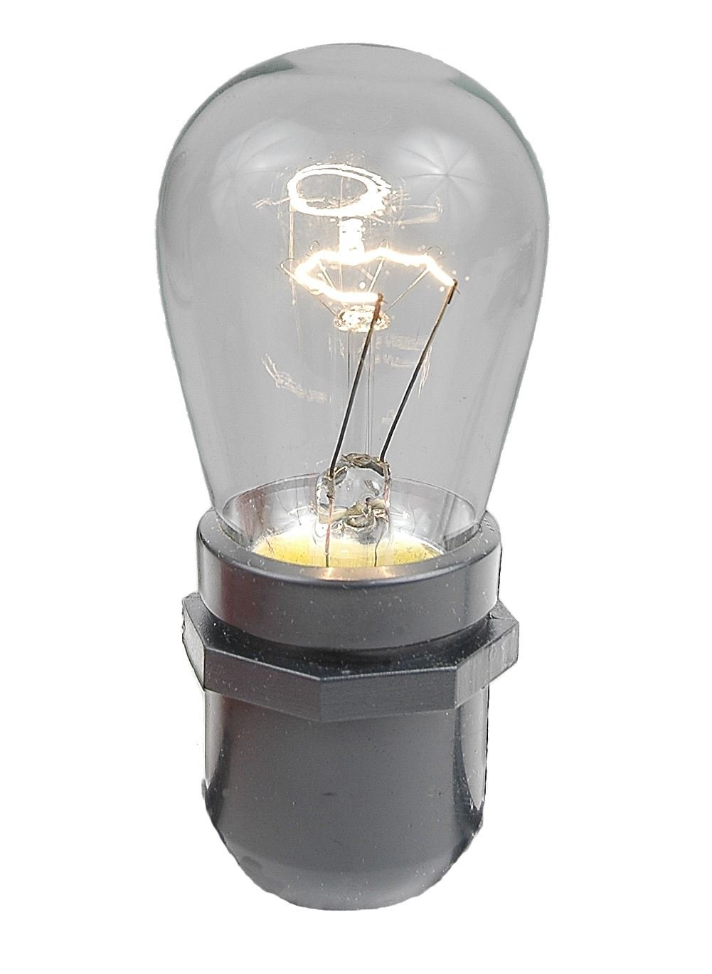 String light company incandescent light bulb pack of 25 - Novelty Lights 25 Pack S14 Outdoor Patio Party Replacement Bulbs Clear E26 Medium Base 11 Watt Incandescent Bulbs Amazon Com