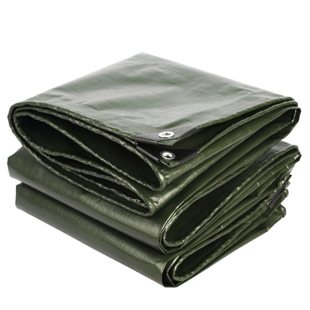 Zelt Zubehör Plane Plane Polyethylen wasserdicht Sonnenschutz mit hoher Qualität Schutzschicht, geeignet für Mantel Race Garden Outdoor, Armee grün + Silbergrau, Dicke 0,38 mm, 210 G   M2, 18 Größenop