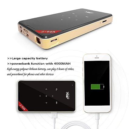 Dailyinshop 1 GB + 8 GB HD 4K proyector 1080P Bluetooth WiFi ...