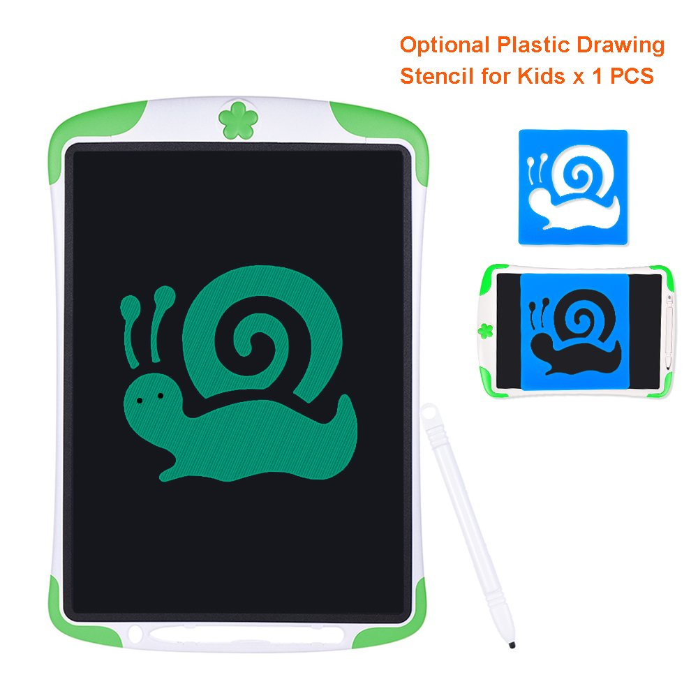 Electronic Tablet Board, Digital Drawing Tablet Handwriting Pads, 10 inch Portable Electronic Tablet Board for Kids, Family, Adult Doodle/Graffiti/E-Writing with Random Stencil (Green) by Dust2Oasis (Image #7)