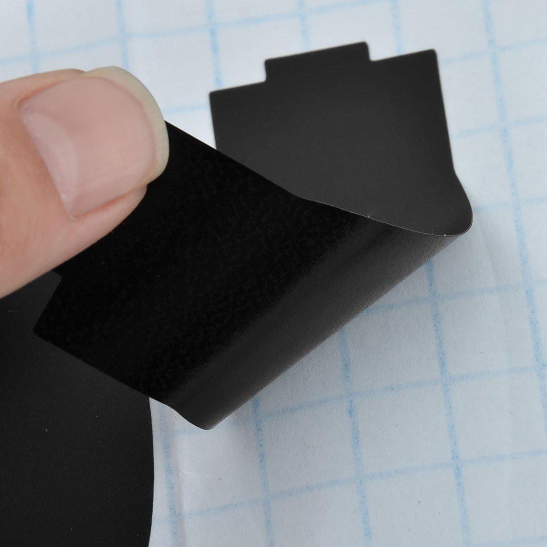 eDealMax casera del PVC desmontable agua frascos de vidrio de la Copa de la pizarra pegatinas Labels 10 piezas Negro - - Amazon.com