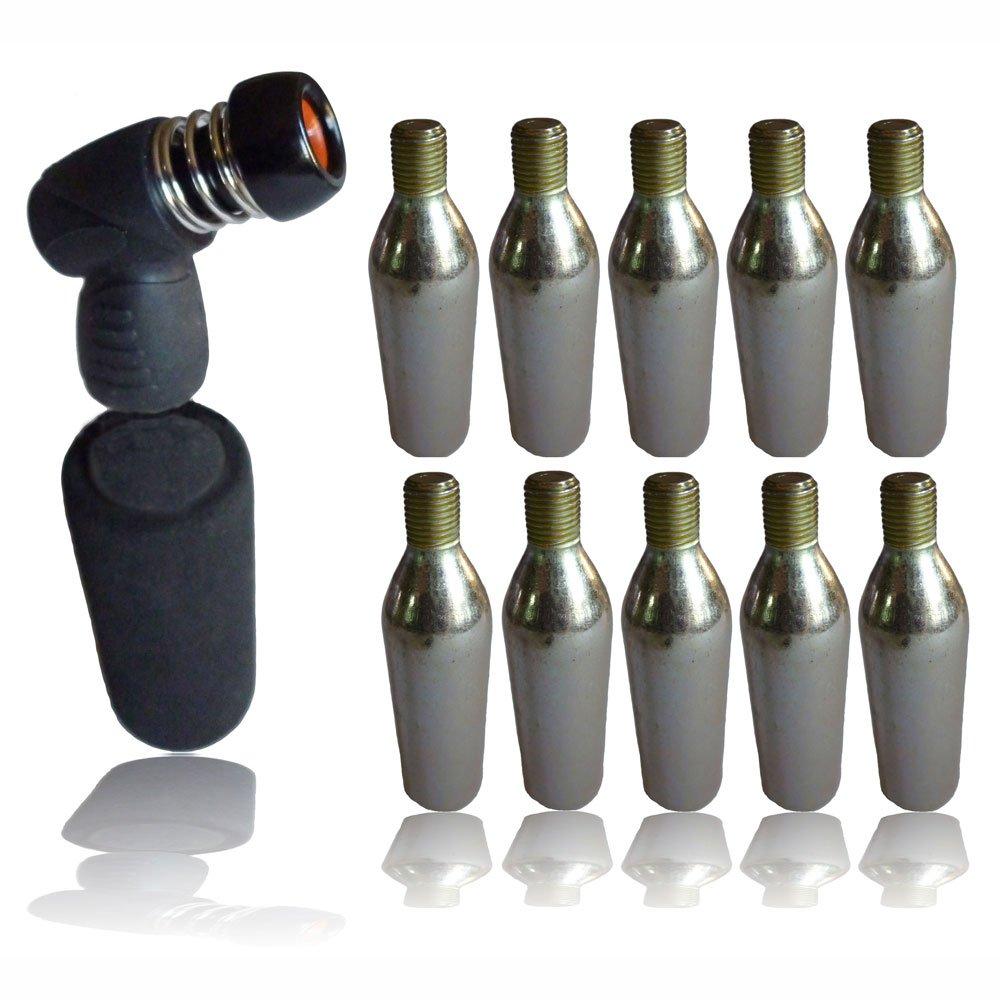 10 gaz CO2 16 g Boîte à pompe pour gonfler les pneus de vélo pour la tête et le grip B00OVAK3P2