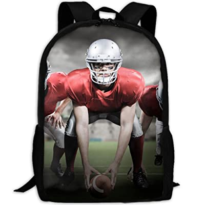 ZQBAAD American Football Luxury Print Men And Women's Travel Knapsack