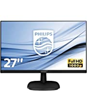 Philips 273V7QJAB 27-Inch IPS Full HD Monitor with Speakers - Black