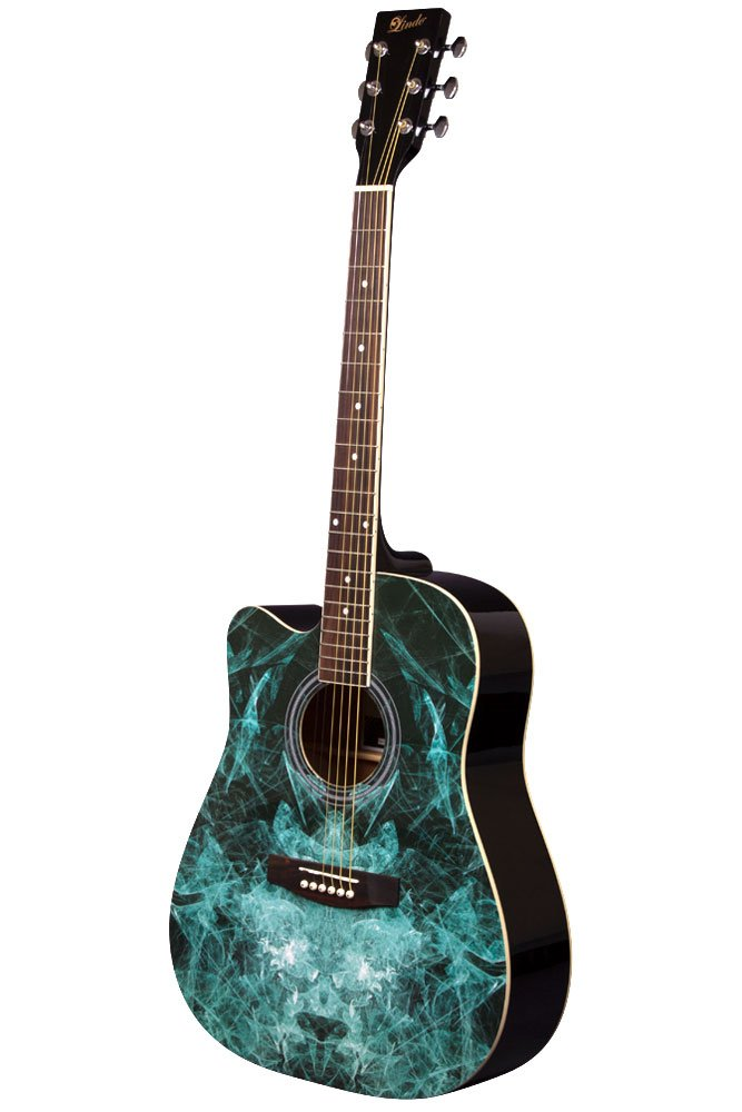 Lindo Left-Handed Fractal Acoustic Guitar - Gigbag included Lindo Gitarren LDG-42C-BK-LH