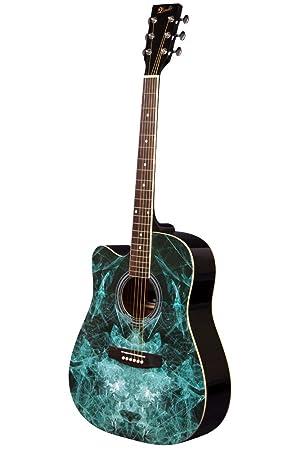 Lindo - Guitarra acústica de aprendizaje para zurdos (104 cm, incluye funda blanda)