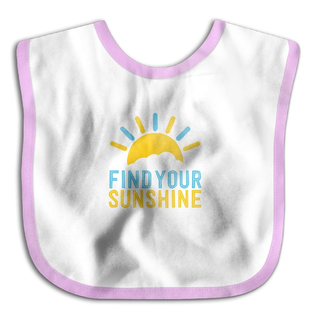 Find Your Sunshine Personalized Scarf Bib Feeding /& Teething Fancy Baby Bibs and Burp Cloth Polyester Cotton
