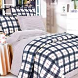 Blancho Bedding - [Red Black Plaid] 100% Cotton 4PC Duvet Cover Set (Full Size)