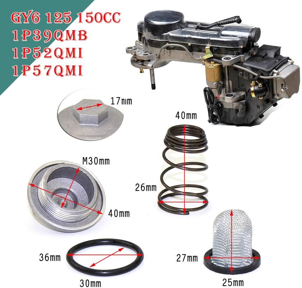 26 x 25,8 mm 1,02 x 1,02 Zoll perfk 1 Satz Motor /Ölfilter-Ablassschraube Kleinteile /Ölfilter-Gr/ö/ße