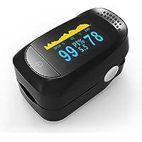 [Nueva Generación] Pulsómetro Dedo Oxímetro de Pulso Pulsioxímetro de Dedo Profesional con Pantalla OLED, Medidor de…