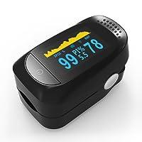 [Nueva Generación] Pulsómetro Dedo Oxímetro de Pulso Pulsioxímetro de Dedo Profesional con Detección del índice de perfusión (Pantalla OLED, Medidor de Oxígeno en Sangre SpO2 y Monitor de Frecuencia Cardíaca) para Uso Deportivo, Adultos y Niños