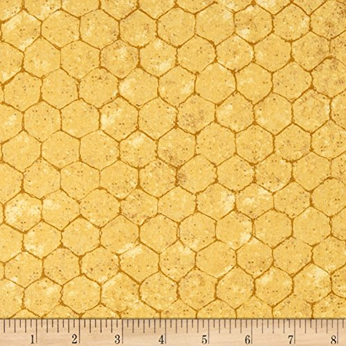 Springs Creative Products Springs Creative Crown Roost Chicken Wire Yellow Fabric by the Yard (Best Roost For Chickens)