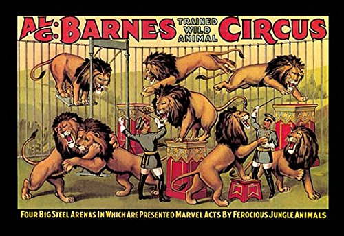 "Buyenlarge 0-587-00420-7-C2030 Al G. Barnes Trained Wild Animal Circus Gallery Wrapped Canvas Print, 20"" x 30"""