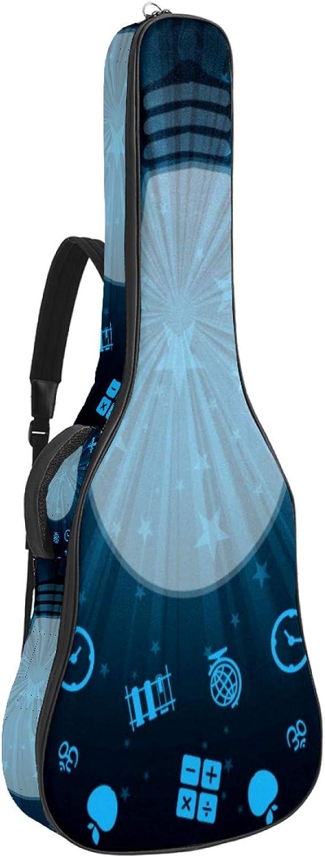 Funda de Guitarra Española Patrón de conocimiento Bolsa Acolchada Para Guitarra Acústica con Asa de Transporte y Correa Para el Hombro 109x43x12cm