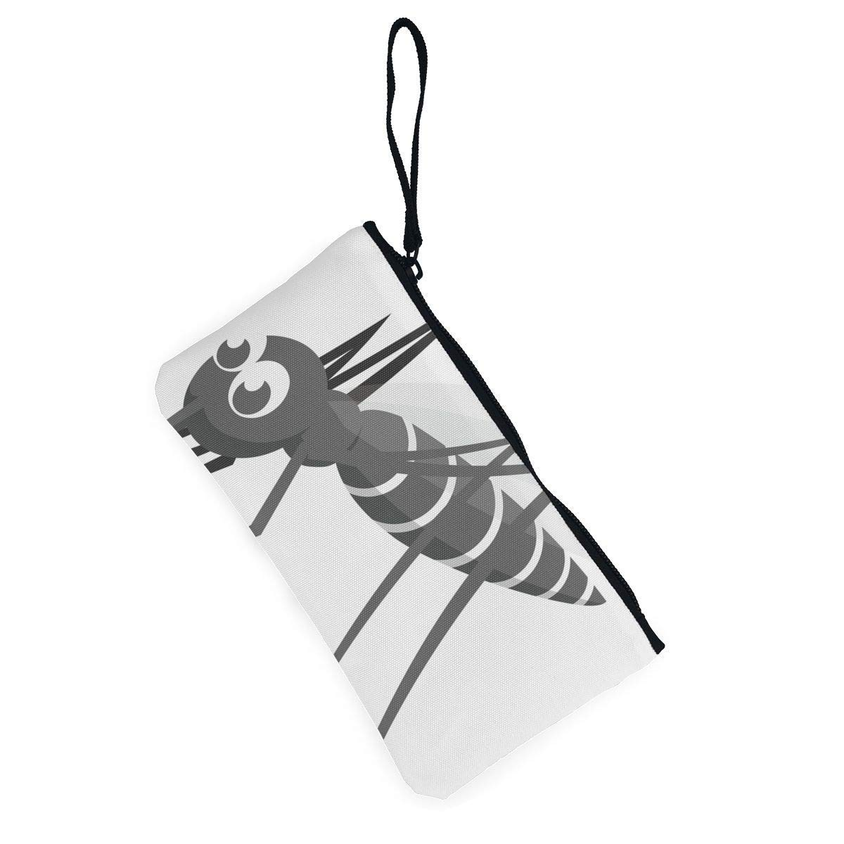 Coin Purse A Mosquito On White Background Ladies Zipper Canvas Wallet ChangeMarvellous Bag