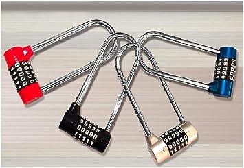 Gangkun Cerradura de Bicicleta, código antirrobo de Cable ...