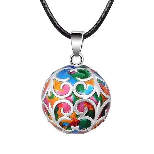Amazon.com: Eudora armonía bola Collar Iris Colorful Chime ...