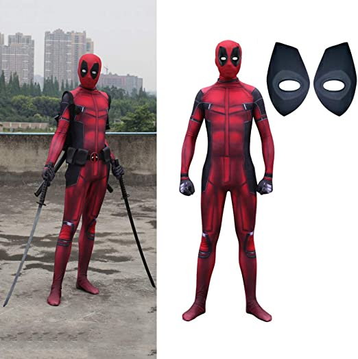 CVFDGETS Traje De Spiderman Cosplay Adulto Deadpool Dead 2 Medias ...