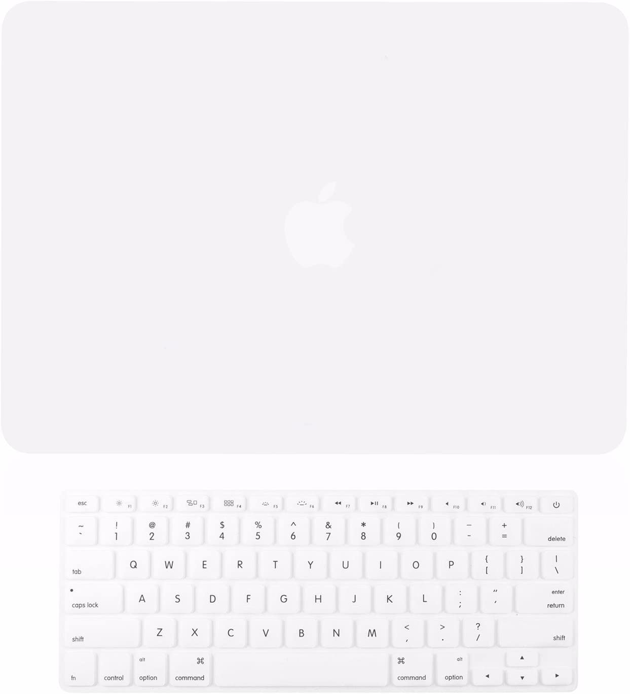 TOP CASE - 2 in 1 Signature Bundle Rubberized Hard Case and Keyboard Cover ONLY Compatible MacBook Air 13