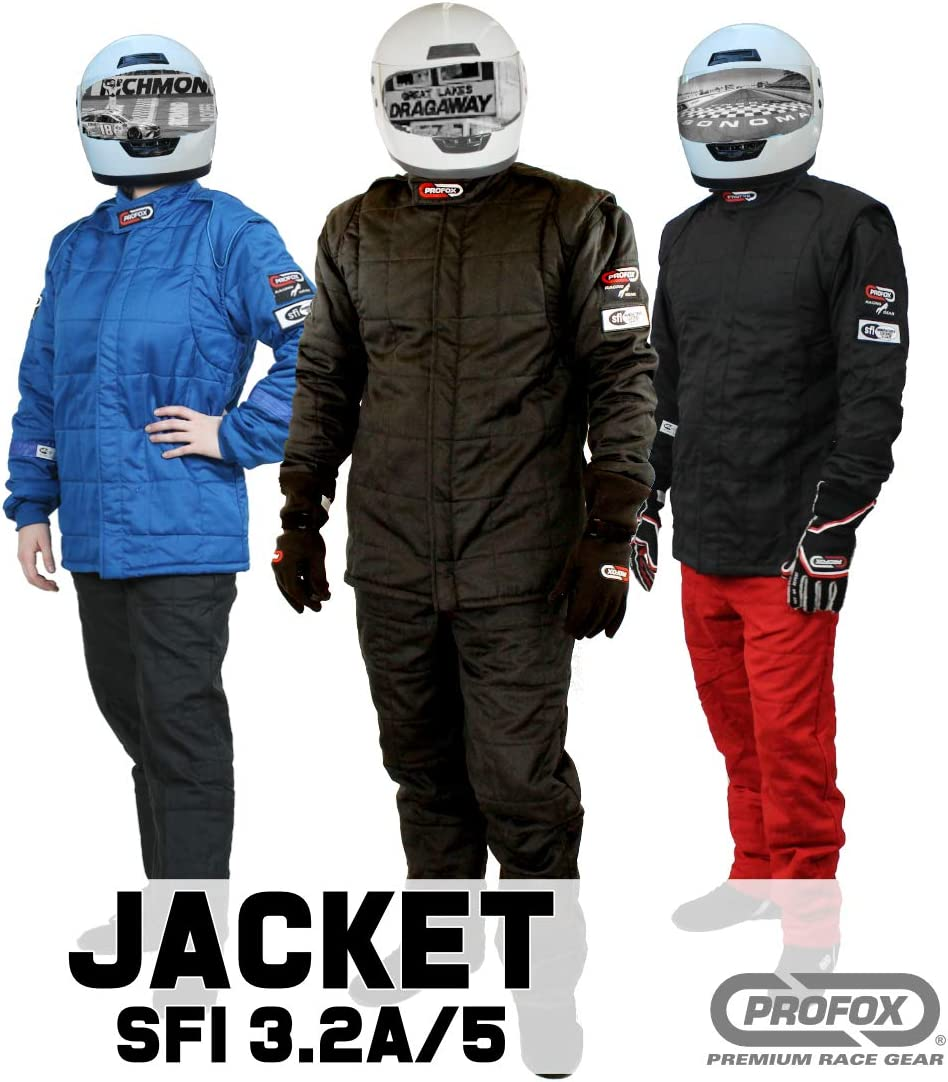 PROFOX-502 Black 2XL Jacket Auto Racing Fire Resistant SFI 3.2A//5 Racing Fire Suit Jacket only