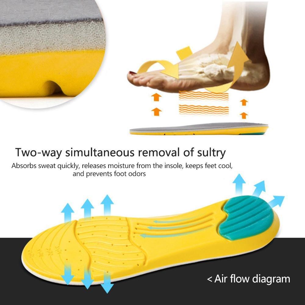 Semelles Sport Respirant Homme Femme 35-40 AOLVO Semelles Chaussures de Gel amortiguadoras
