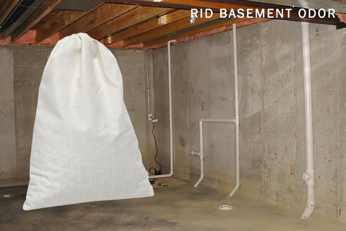SMELLEZE Reusable Basement Odor Removal Deodorizer Pouch: Rids Musty Smell Without Fragrance in 150 Sq. Ft. by SMELLEZE (Image #4)