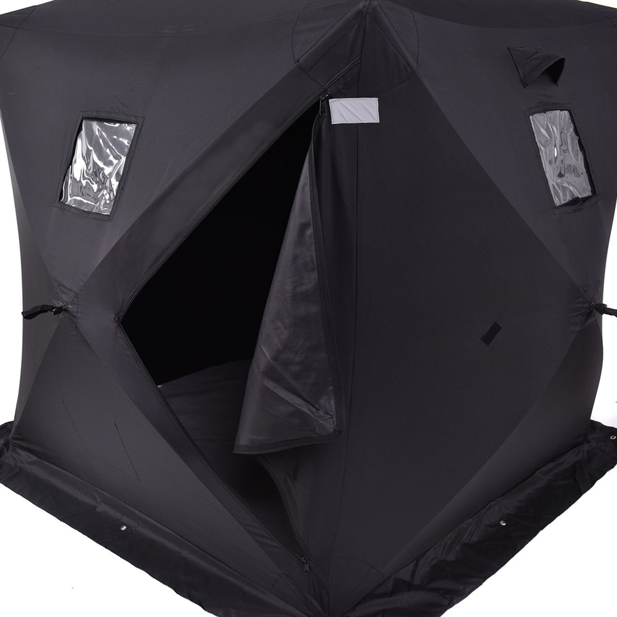 Amazon.com  Tangkula 2-person Pop Up Portable Ice Shelter Fishing Tent House Shanty  Sports u0026 Outdoors & Amazon.com : Tangkula 2-person Pop Up Portable Ice Shelter Fishing ...