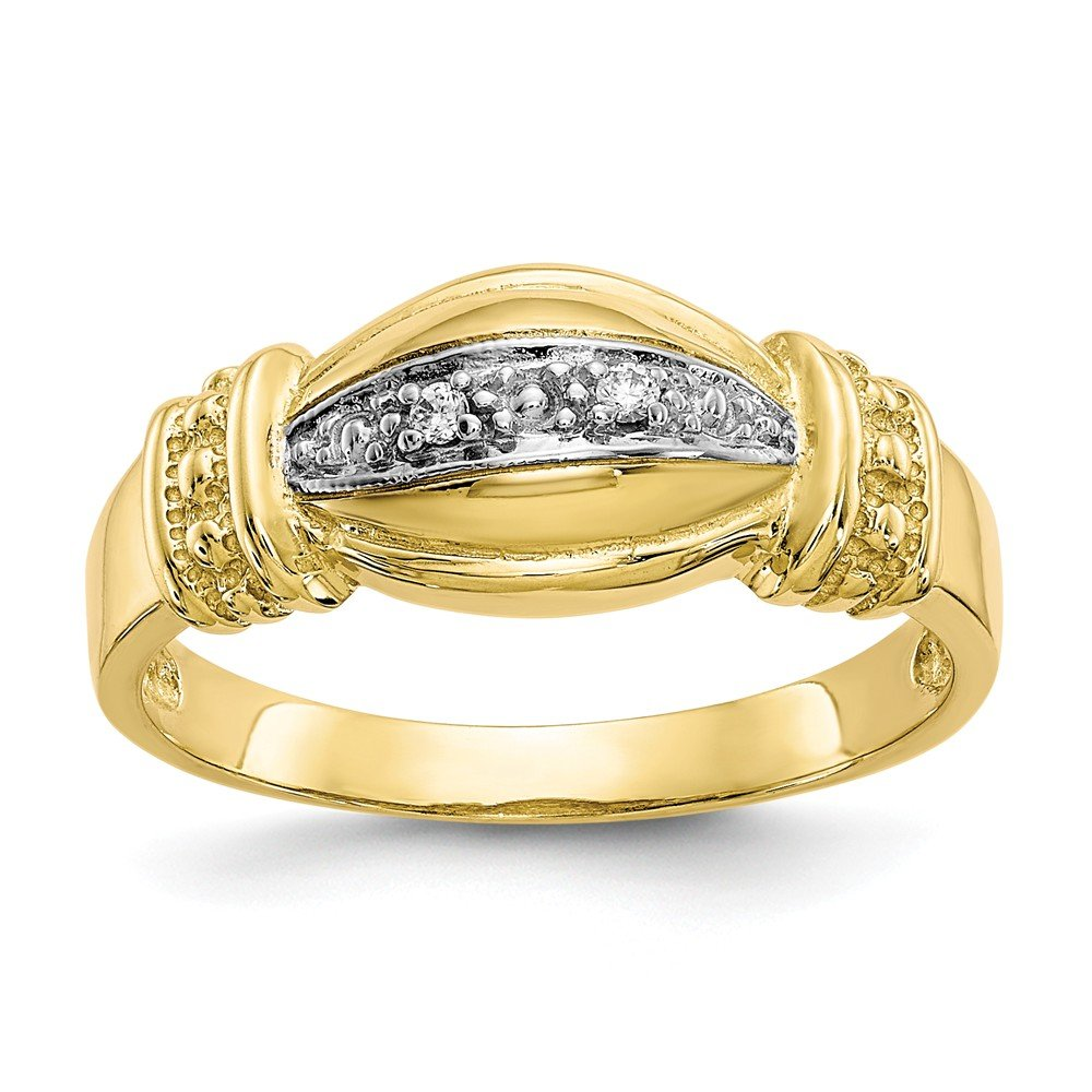10k Yellow Gold Cubic Zirconia Fancy Ring Size 6 Fine Jewelry Ideal Gifts For Women