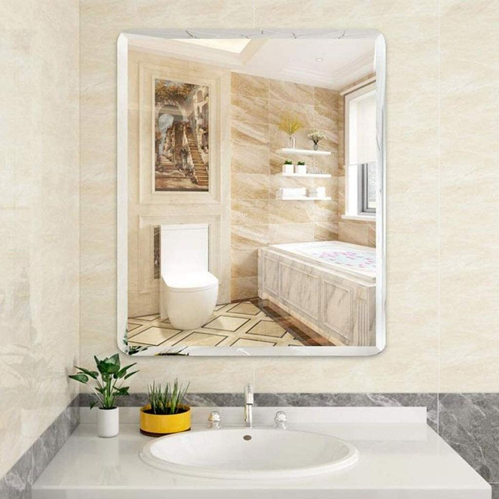 Wall Mounted Mirror Bathroom Vanity Mirror Makeup Mirrors Rectangular Frameless Beveled Mirror Shaving Bathroom Bedroom Decorative Size 50 70cm Amazon Ca Home Kitchen