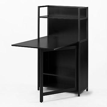 Sobuy 30 Fwt12 Sch Table Pliante Armoire Avec Table Pliable Integree Table D Ordinateur Table De Cuisine Table De Rapas Bibliotheque Bureau
