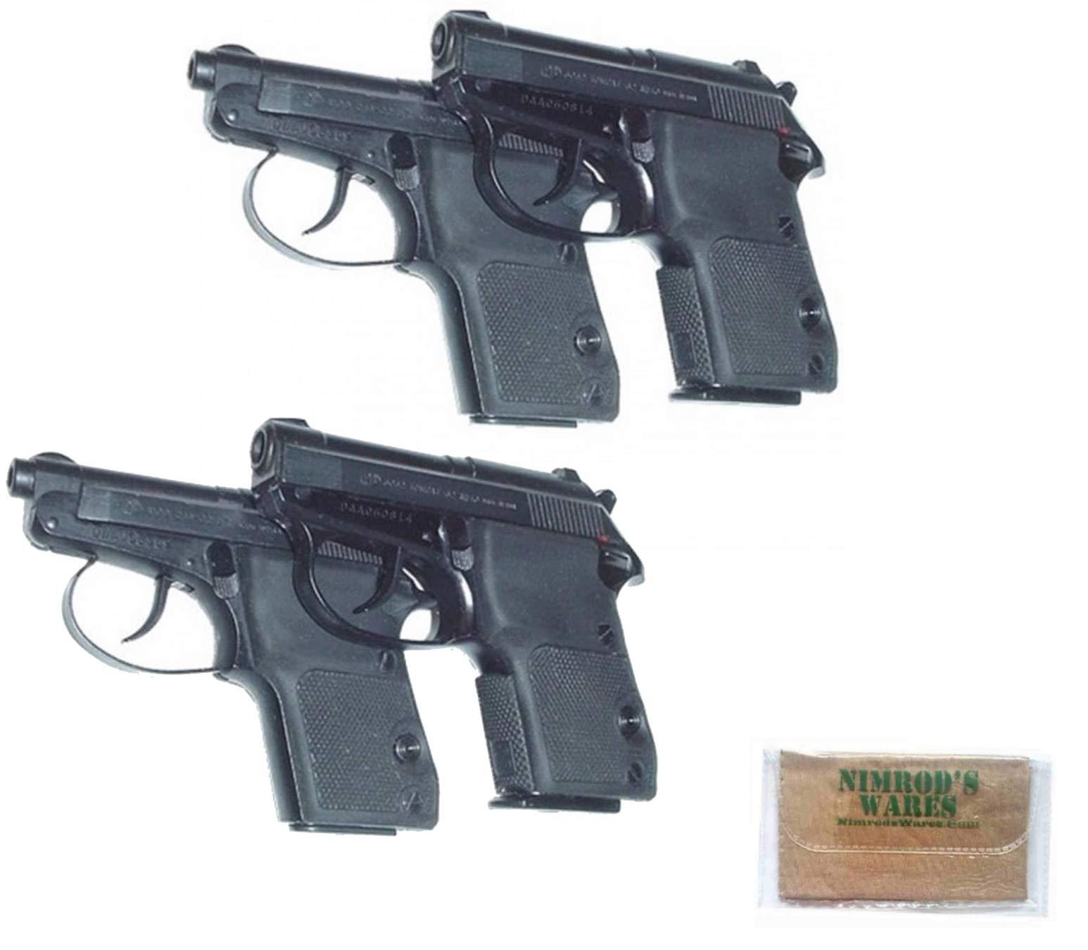 Nimrod's Wares 2-Pack Pearce Grip Beretta Bobcat 21A Tomcat 3032 Wrap-Around Grips PG-32 Microfiber Cloth by Nimrod's Wares
