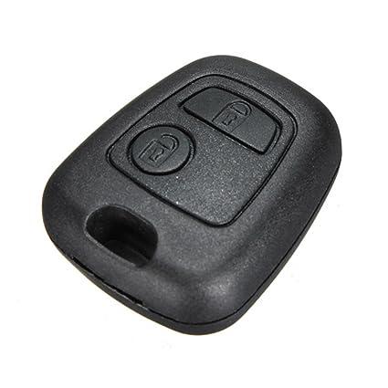 AUDEW - Carcasa para llave de coche, mando a distancia con 2 botones, para Citroën y Peugeot