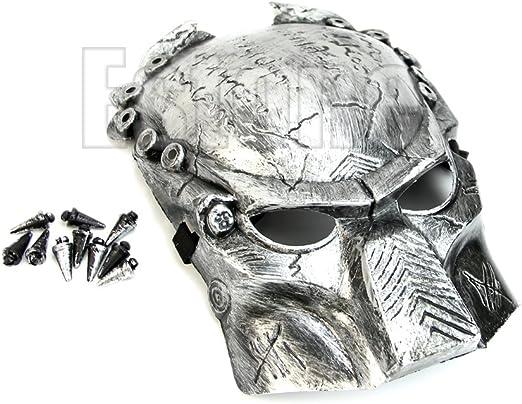 Huwaioury Hallow Mask, 1 pieza Predator Warrior disfraz Cosplay ...
