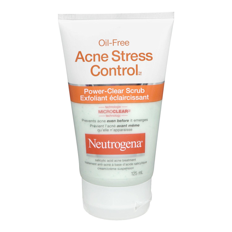 Neutrogena Acne Exfoliating Face Scrub, Salicylic Acid Acne Treatment, 125 mL