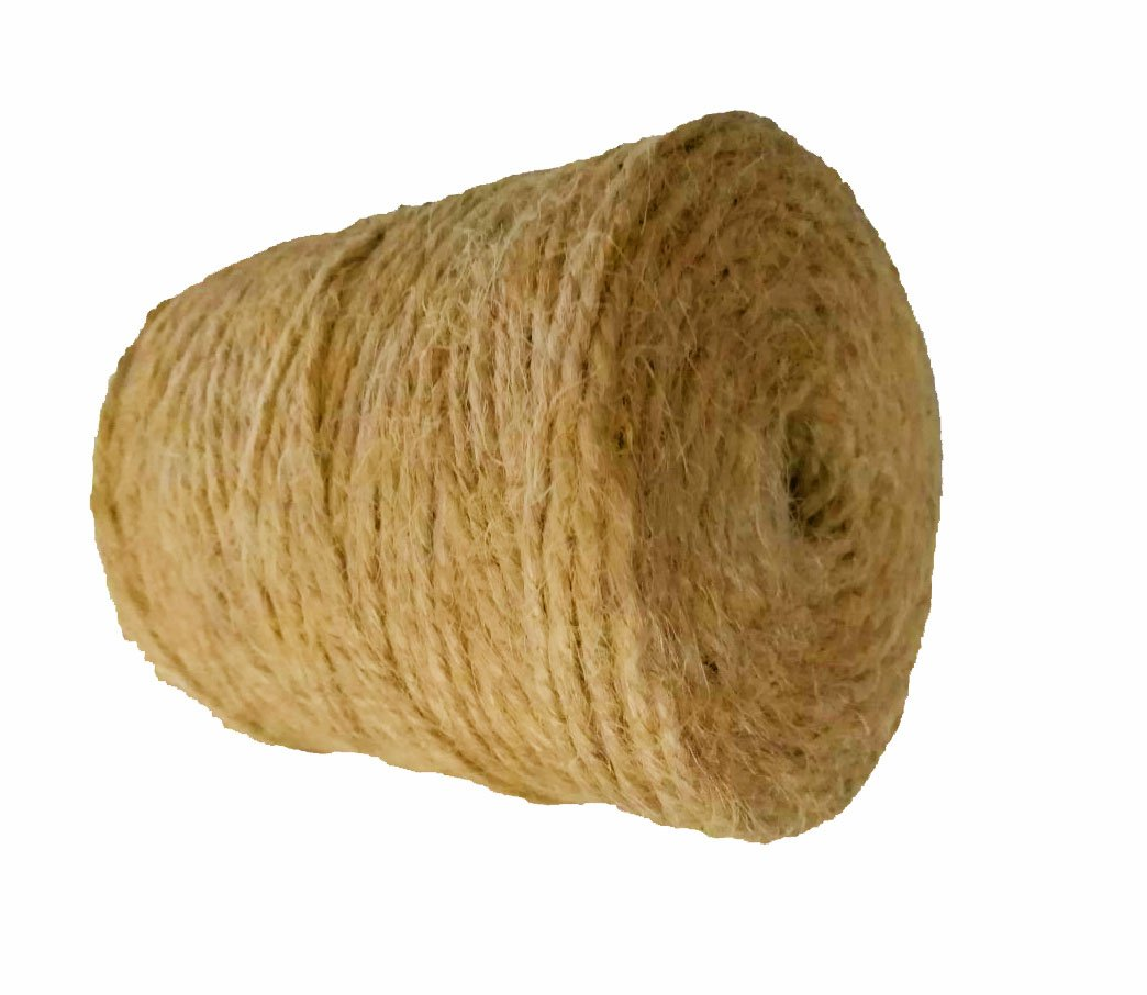 AAYU Natural Jute Twine by 3Ply 500 Feet | Jute Rope for Industrial, Packaging, Arts & Crafts, Gifts, Decoration, Bundling, Gardening and Home
