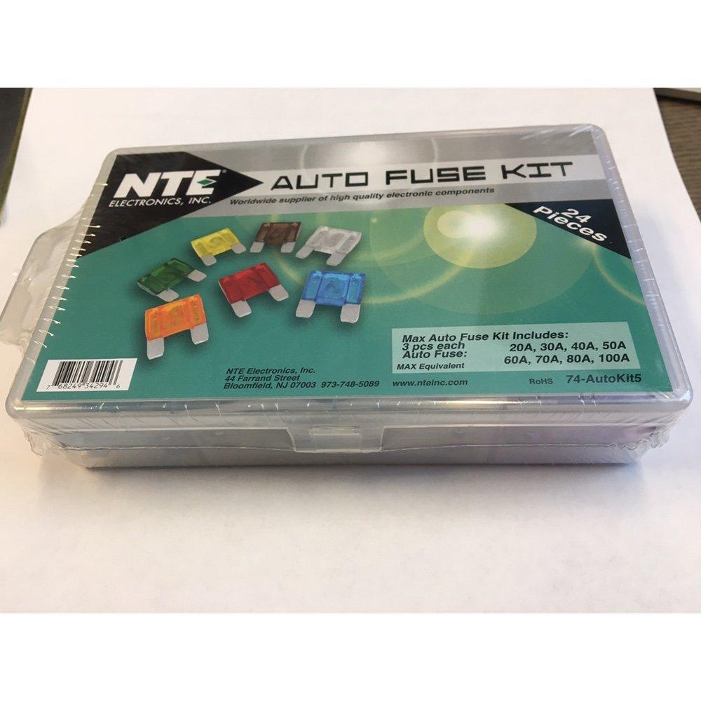 NTE 74-AUTOKIT5 Max Auto Fuse Kit 20A to 100A